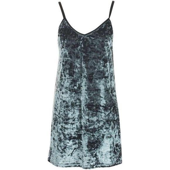 37cd3a7e Topshop Dresses | Crushed Velvet Slip Dress | Poshmark